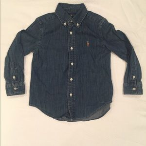 4T Polo Denim Button Front Shirt